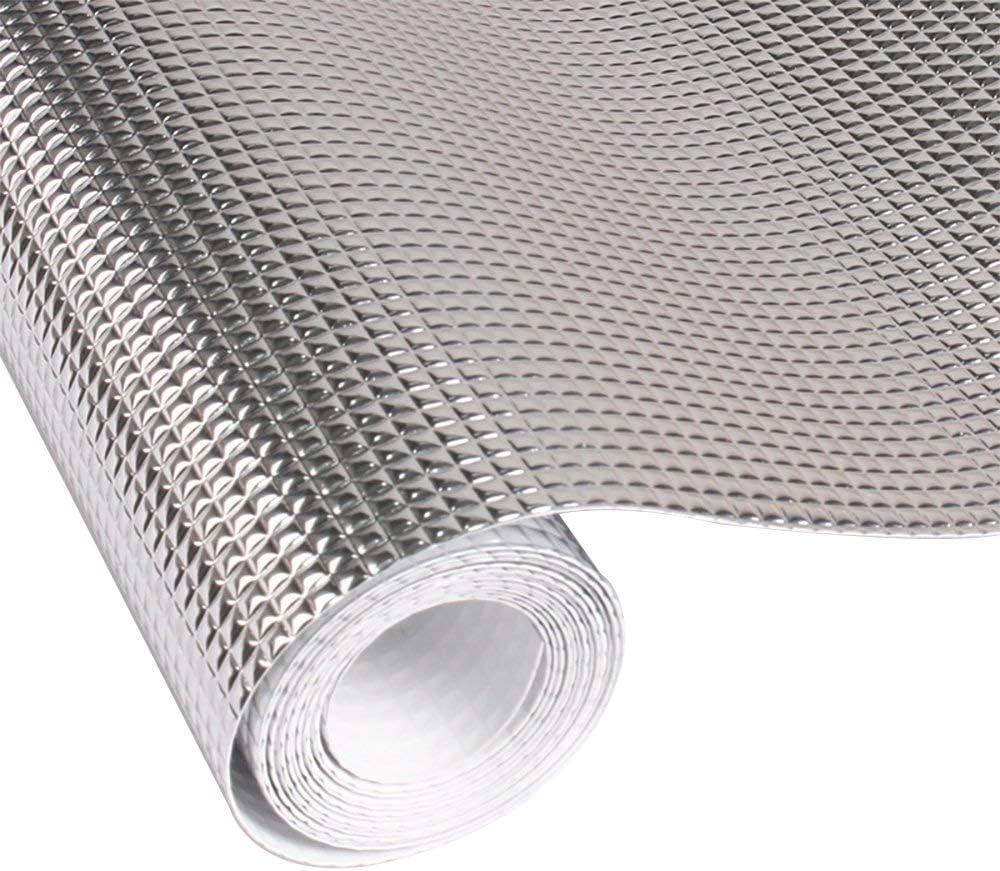 Contever Küche Schrankpapier No-Adhesive Schubladenmatte, Eva Wasserdicht  Kühlschrankmatten Öl Beweis Aluminiumfolie Regal Liner Antirutschmatten