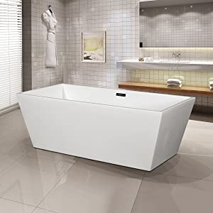 The Smooth, Glossy Finish And Great Craftsmanship On This Bathtub Will Make  Any Homeowner Proud.The Adjustable Feet Allow For Easy Installation.
