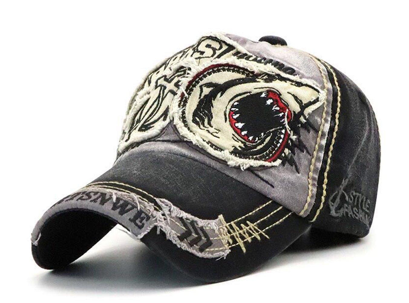 8065b8a29 FENGFA Mens Vintage Distressed Baseball Cap Snapback Outdoor Sports Cap  Trucker Hat