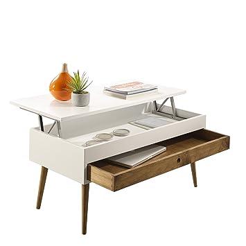 Hogar24-Mesa de Centro elevable con cajón Deslizante diseño Vintage ...