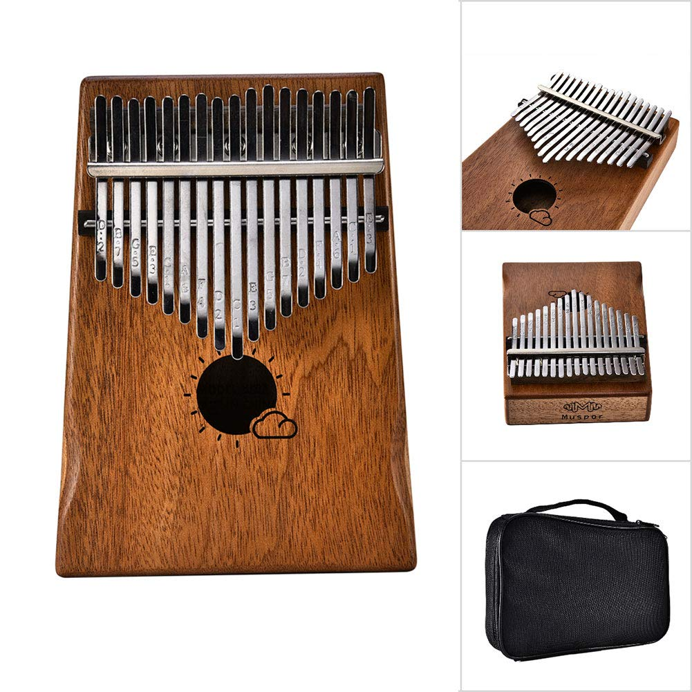 hAohAnwuyg Kalimba Thumb Piano, Orchestral Instrument,Muspor Sun Cloud Pattern Kalimba 17 Key Finger Thumb Piano Musical Instrument