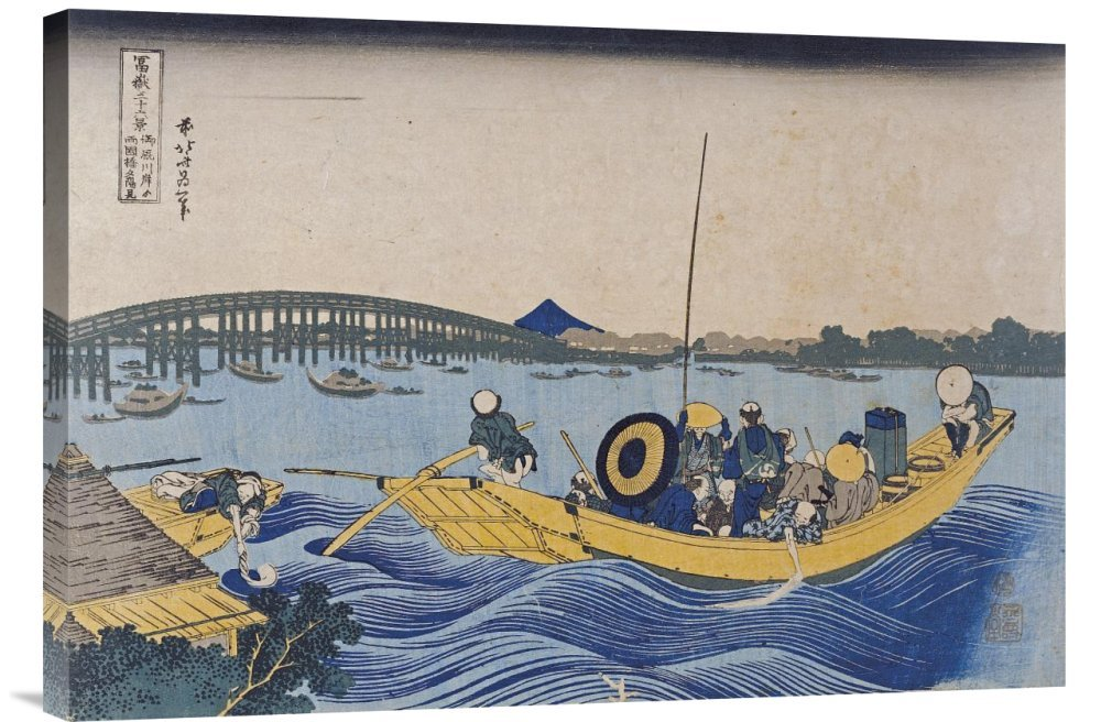 Global Galerie Budget gcs-265016–76,2–360,7 cm Hokusai View of the Evening Evening Evening Glow At Ryogoku Bridge Gallery Wrap Giclée-Kunstdruck auf Leinwand Art Wand B01K1P7D7Q | Sonderangebot  6a0607