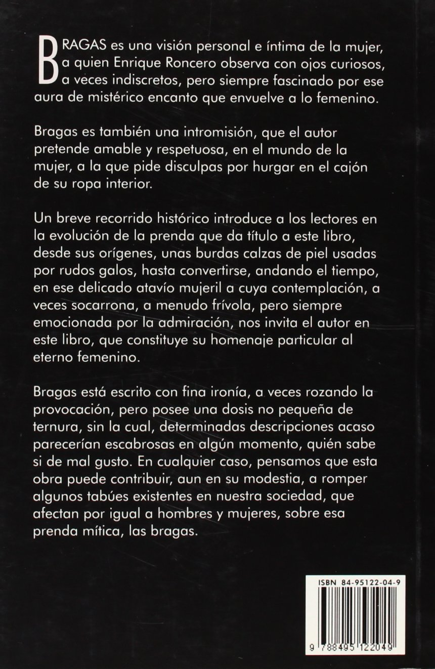 Bragas (Colección Motu Proprio) (Spanish Edition): Enrique Roncero: 9788495122049: Amazon.com: Books