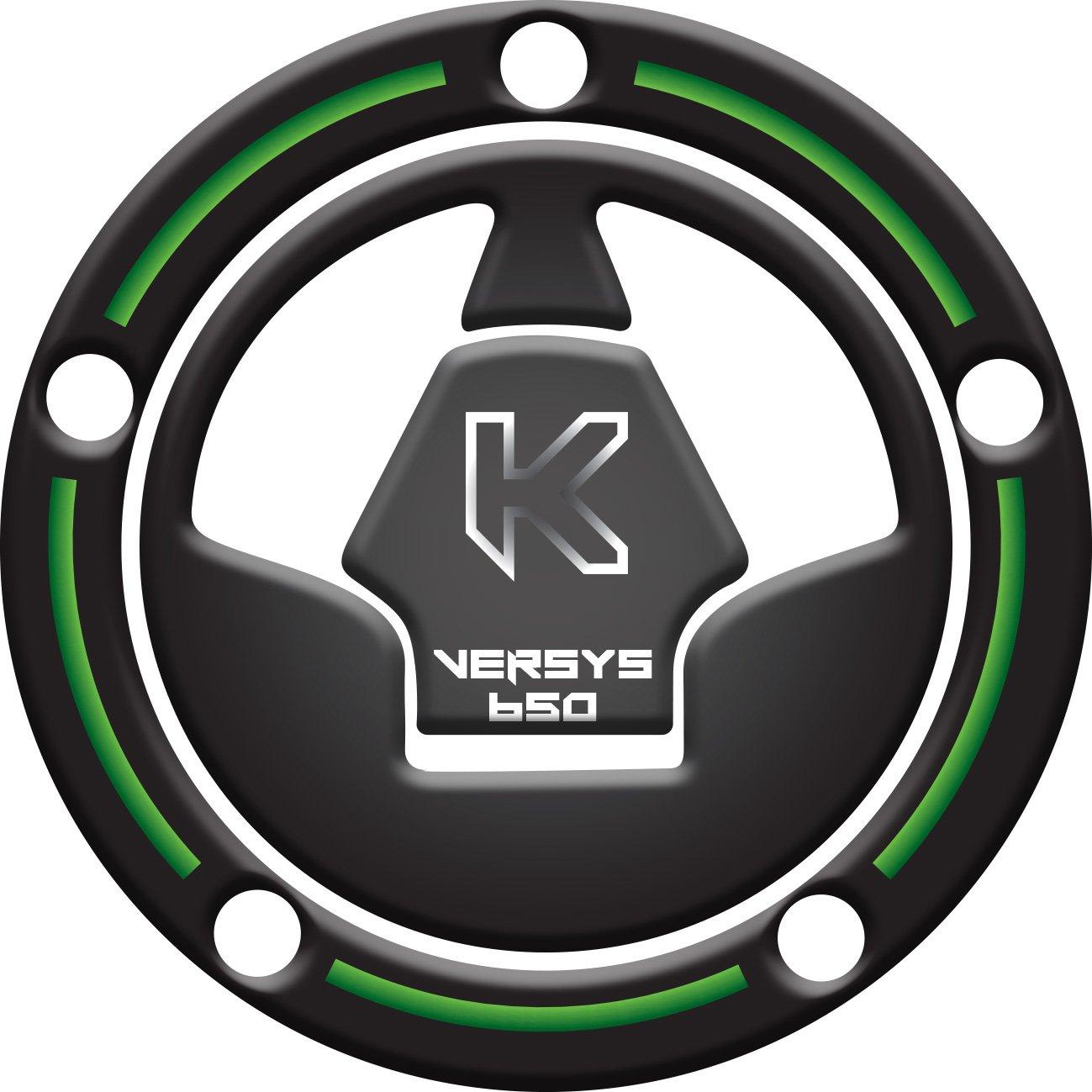 ADHÉSIF 3D RÉSERVOIR RÉSISTANT À CAPUCHON PROTECTEUR compatible pour MOTOCYCLE ,,Versys 650 vert,, Tankpad