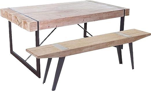 Mendler Esszimmergarnitur HWC A15b, Esstisch + 1x Sitzbank