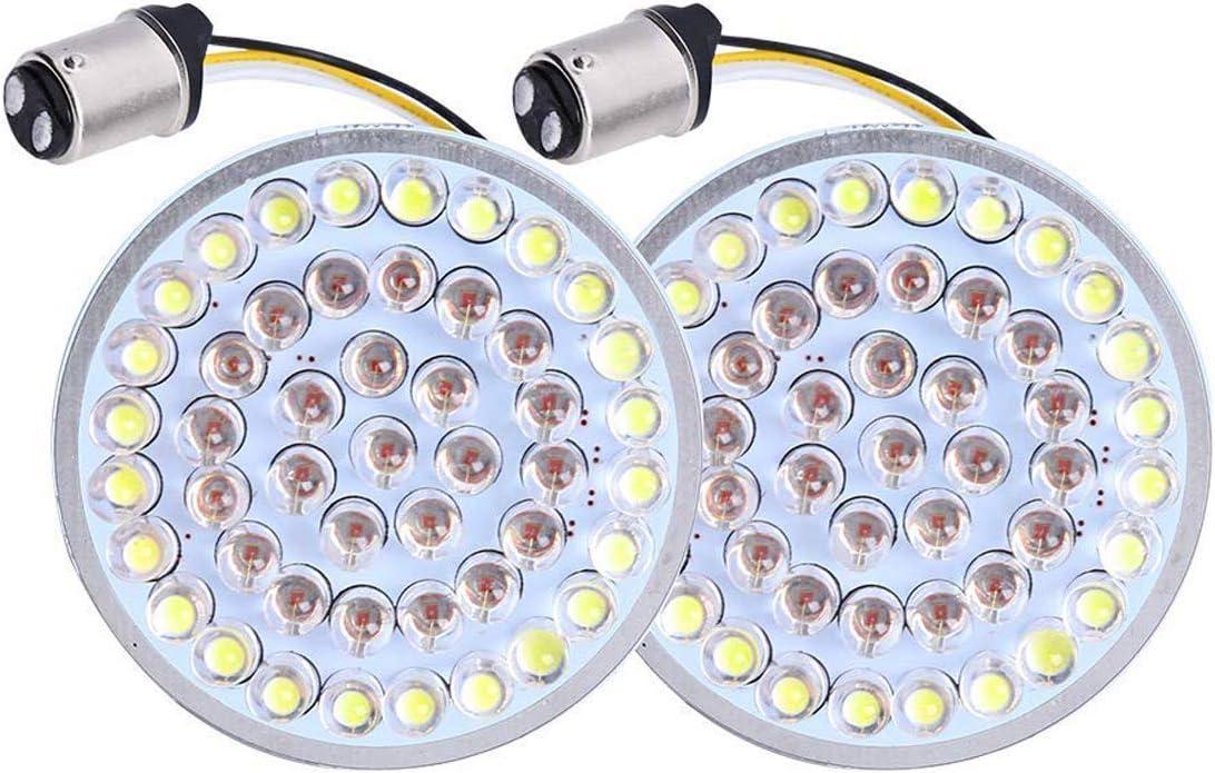 NATGIC 1157 Paire de clignotants arri/ère avec lumi/ère LED blanc//jaune pour Harley/Davidson