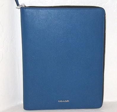 9a59cd44 Amazon.com: Coach Crossgrain Leather Zip Business Portfolio Pouch ...