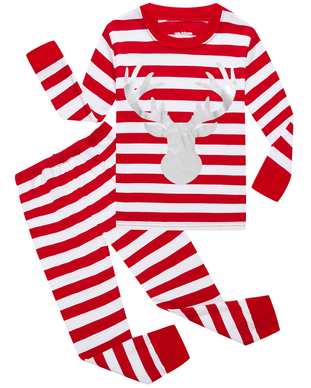 girls pajamas 100 cotton reindeer toddler clothes kids christmas pjs children sleepwear