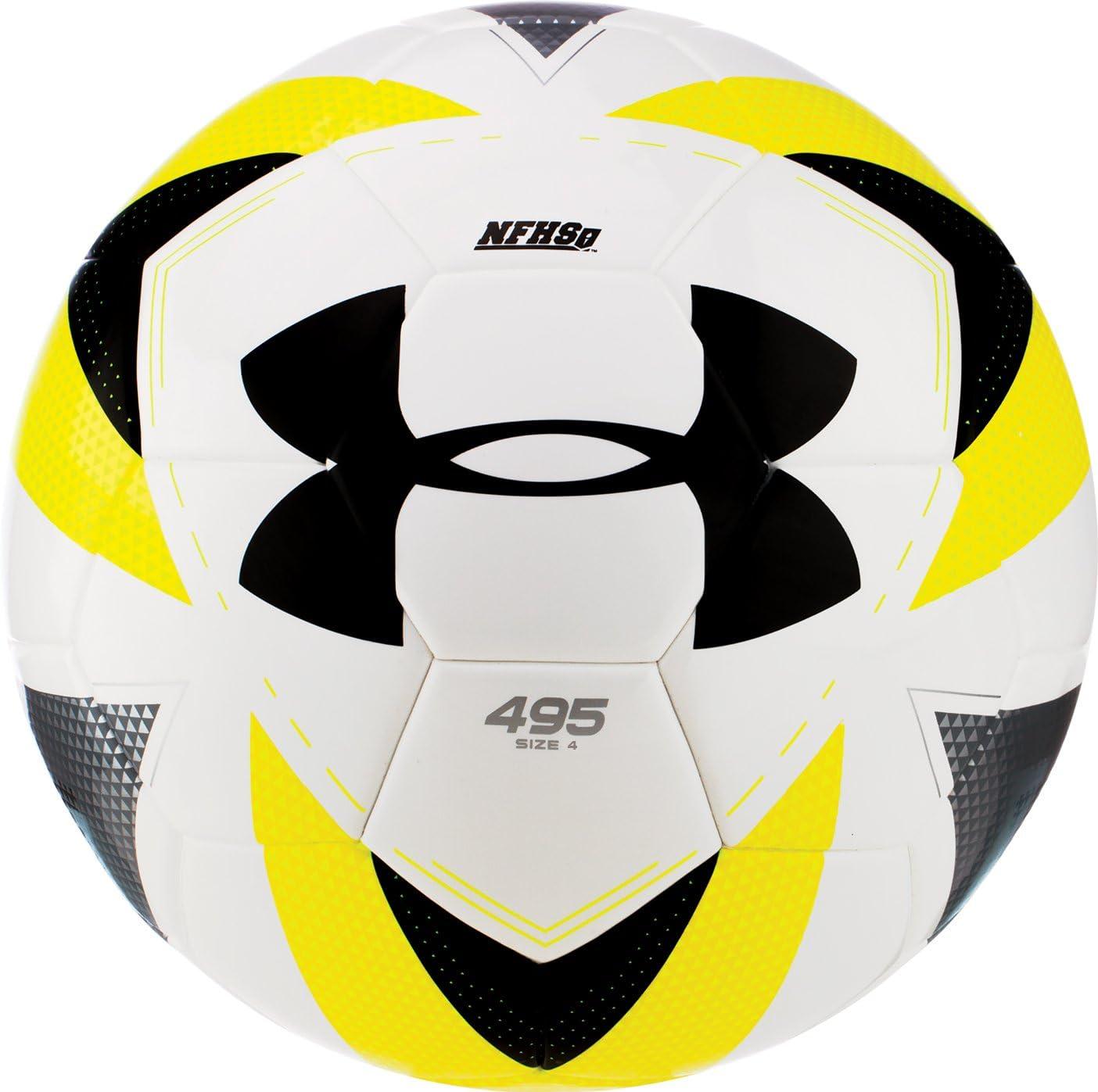 Under Armour Desafio 495 - Balón de fútbol, Color White/Hi-Viz ...