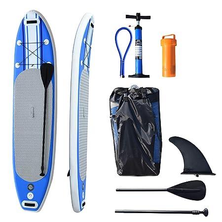 HOMCOM HomComTabla de Surf Hinchable con Remo Ajustable y ...