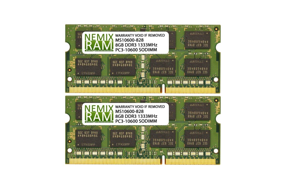 16GB (2 X 8GB) DDR3-1333MHz PC3-10600 SODIMM for Apple iMac 27'' Mid 2010 Intel Core i5 Quad-Core 3.6GHz MC510LL/A (iMac 11,3)