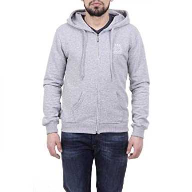 359f2b60fd58 Versace 19.69 Abbigliamento Sportivo Srl Milano Italia Mens Hoodie With Zip  ART. 4468 LIGHT GREY  Amazon.co.uk  Clothing