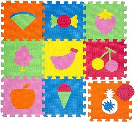 littletom tapis de jeu doux pour bebe dalles puzzle en mousse enfants fruits