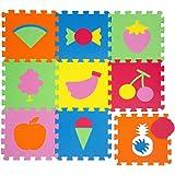 LittleTom Puzzlematte Spielmatte Früchte Spielteppich Schaumstoff Puzzle Kinderteppich
