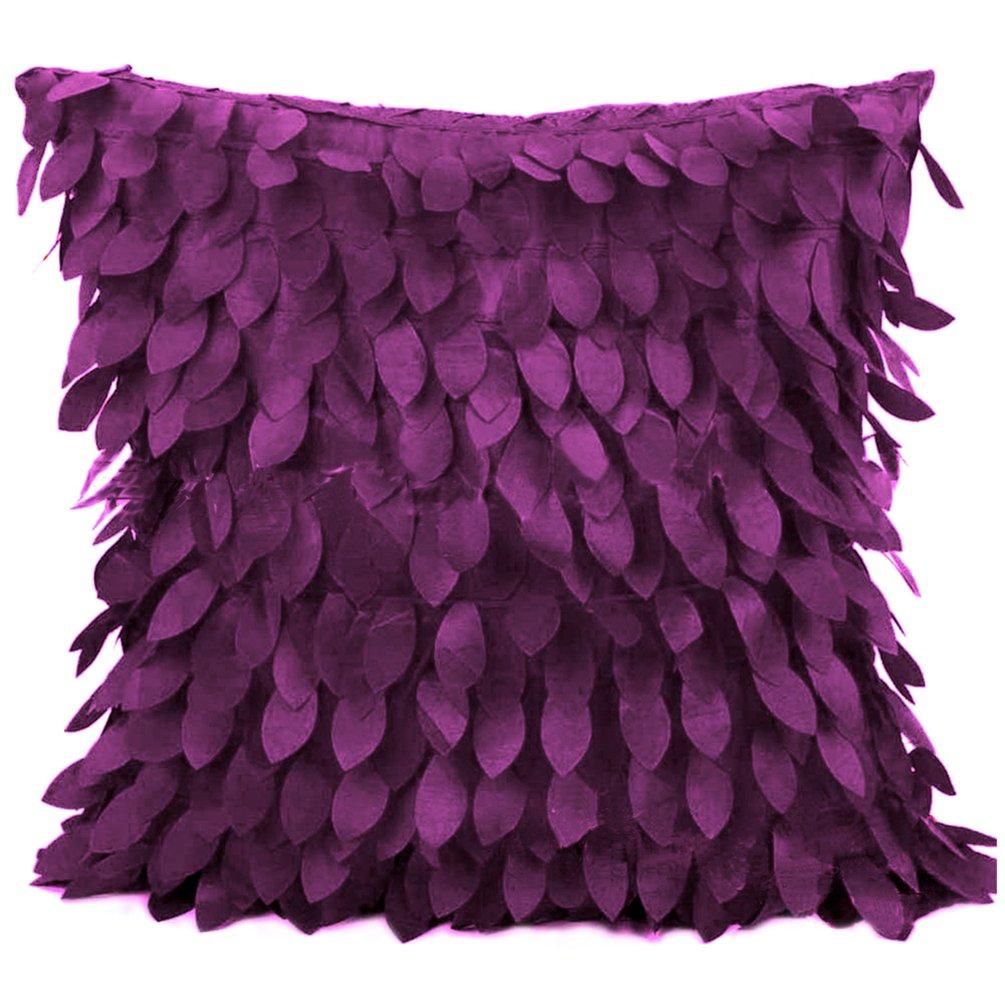 dragonaur 3D Fallen Leaves Throw Pillow Case Cushion Cover Home Couch Sofa Decor size Medium Black