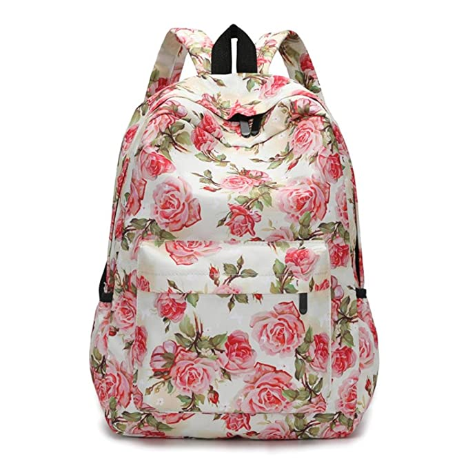 Clearance! Girl's Backpack Stylish Floral College Student School Bookbags Laptop Daypack Hiking Bags