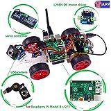 SunFounder Model Car kit Video Camera for Raspberry Pi 3/2/B+/B RC Servo Motor Remote Control Robotics Electronic Toys Game Kids App Detail Manual(Not Included Raspberry Pi)