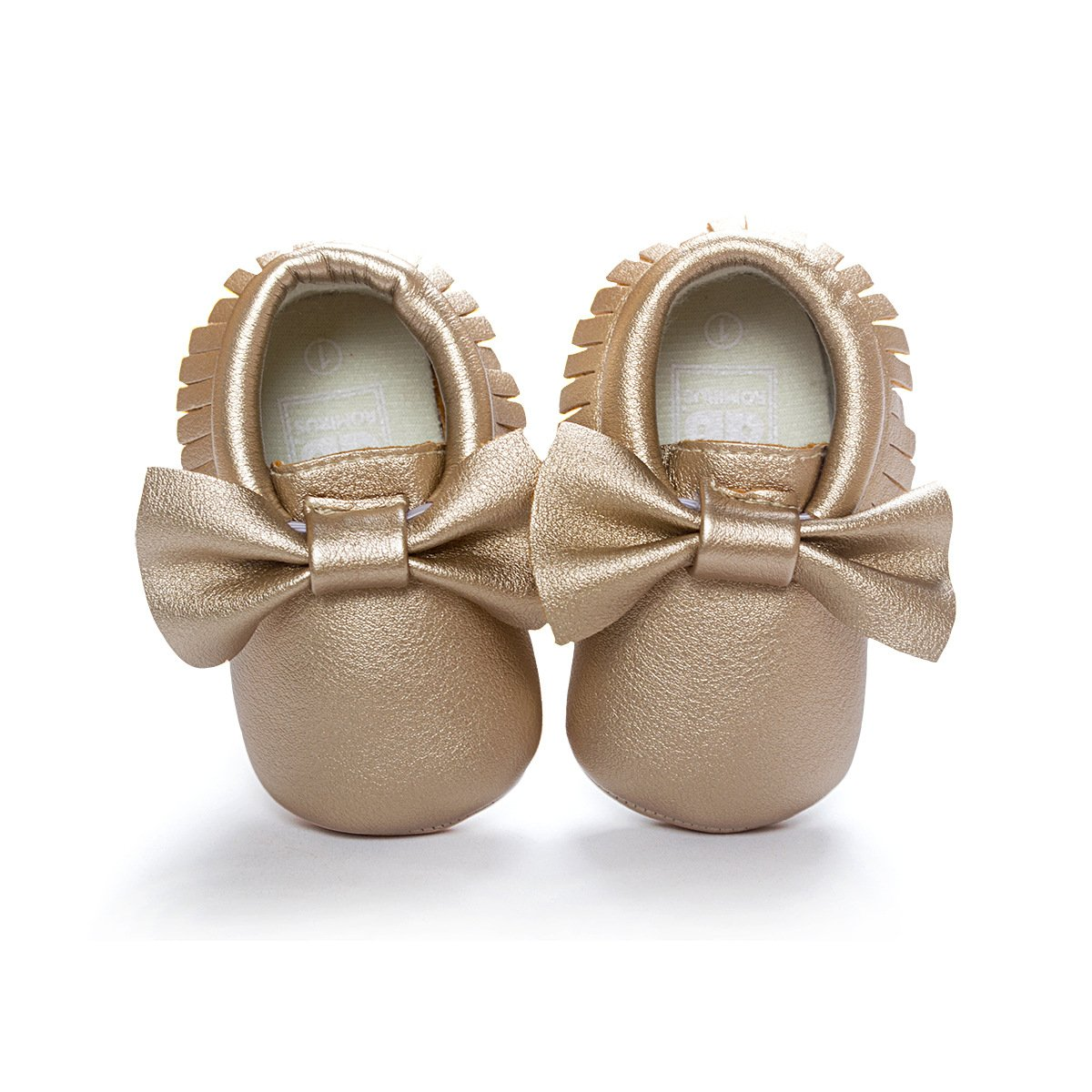 C&H Baby boy girl soft cute tassel bow tassels baby cot shoes baby shoes (11cm(0-6months), 5107 golden) by C&H (Image #5)