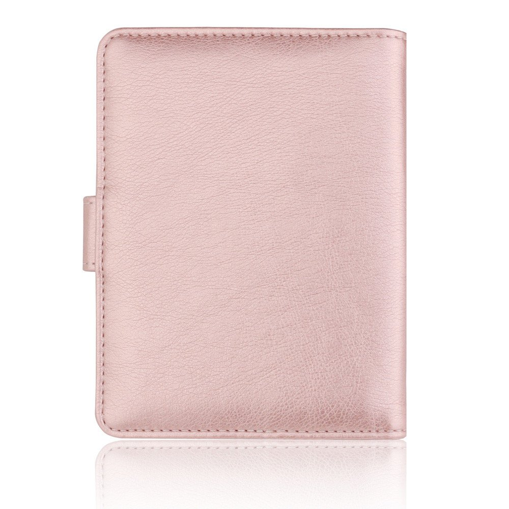 TEEGUI Wallet Coin Purse Solid Color Hasp Antimagnetic Certificate Card Bag Passport Package