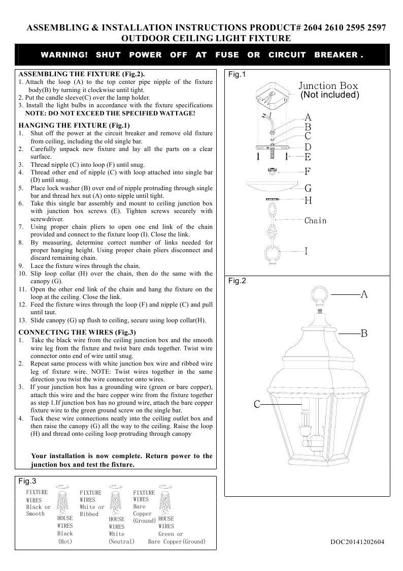 Livex Lighting 2610 04 Exeter 3 Light Outdoor Hanging Lantern Wiring Loop Diagram Vintage Pewter