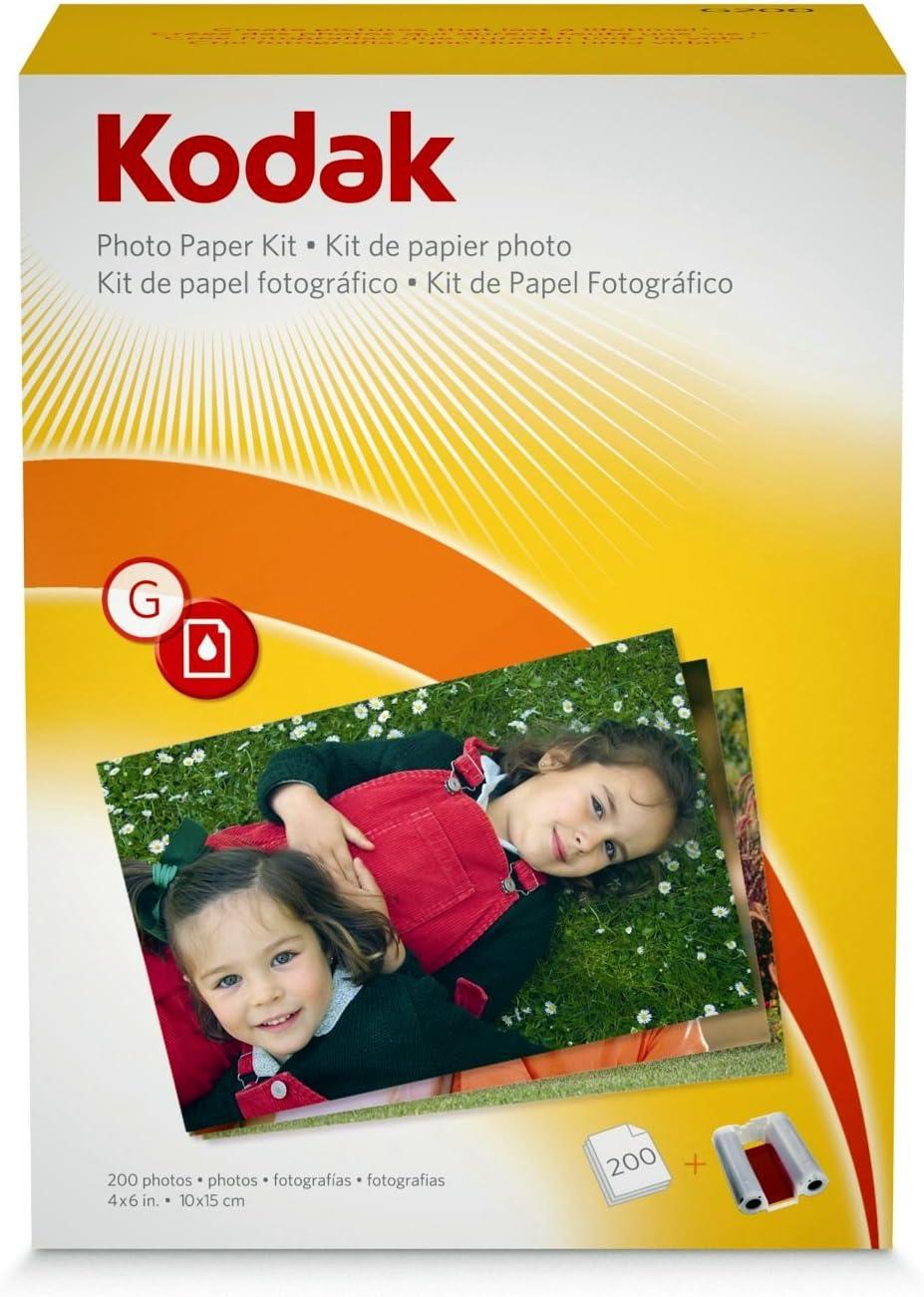 A6 Papel fotogr/áfico Kodak High Gloss 50 hojas 10 x 15