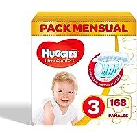Pañales para bebé Huggies Ultra Comfort, talla 3 (4-9 kg), 168 unidades