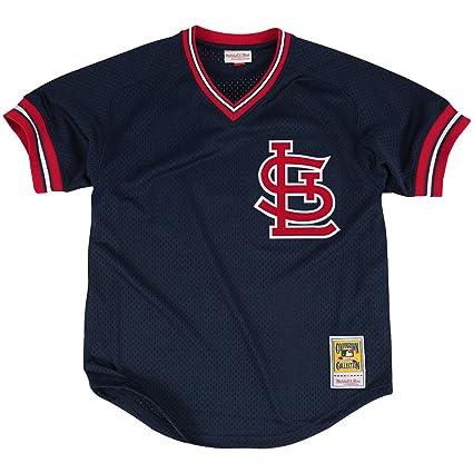66d9bfb28 Ozzie Smith St. Louis Cardinals Navy Authentic Mesh Batting Practice Jersey  (3XL 56