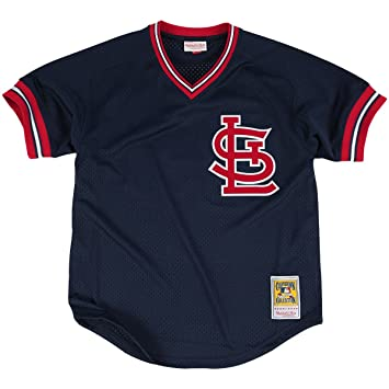 buy popular f4d12 58711 Mitchell & Ness Ozzie Smith Navy St. Louis Cardinals Authentic Mesh Batting  Practice Jersey