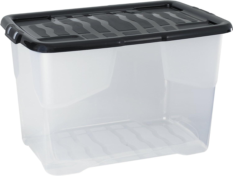 CEP 2002030110 xw203 Caja de almacenaje plástico Cristal 65 L 60 x 39,70 x 37,79 cm: Amazon.es: Hogar