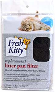 Fresh Kitty Zeolite Litter Box Pan Replacement Filter for Your Pet Cat or Kitten, Odor Control and Keeps Air Clean