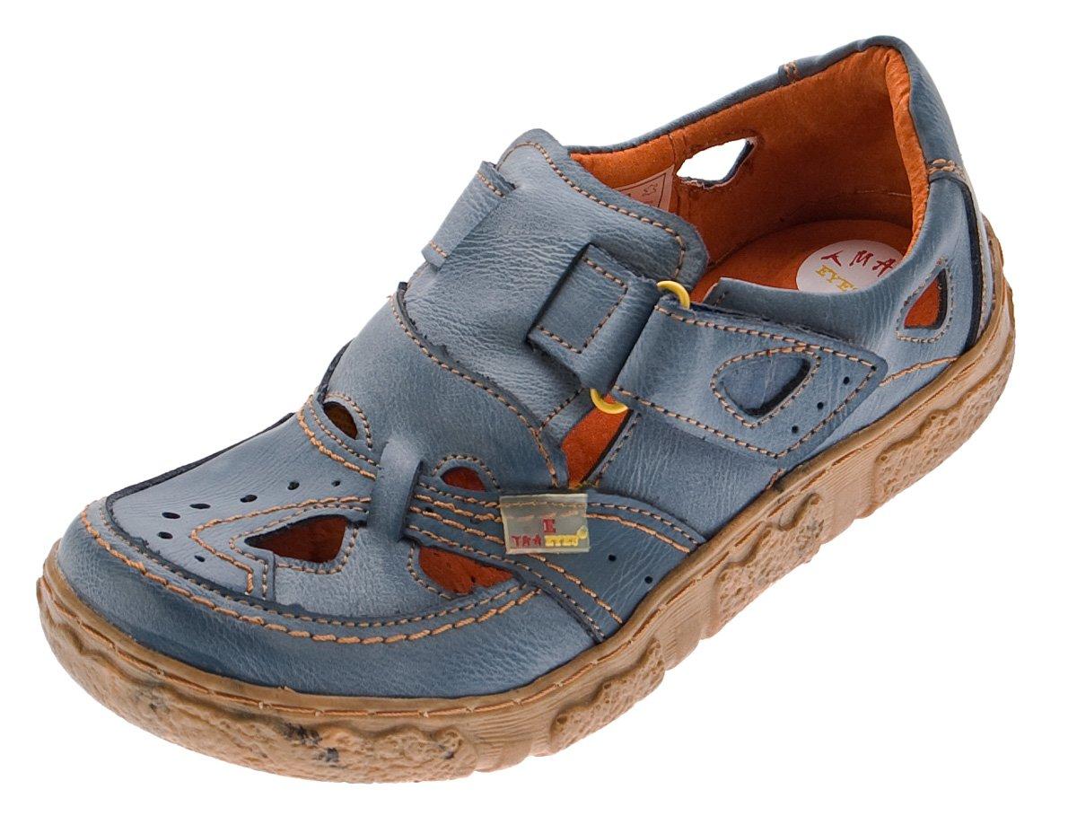 TMA Damen Comfort Echt Leder Sandaletten 7008 Schuhe Viele Farben Zeitungsdruck Halbschuhe Sandalen