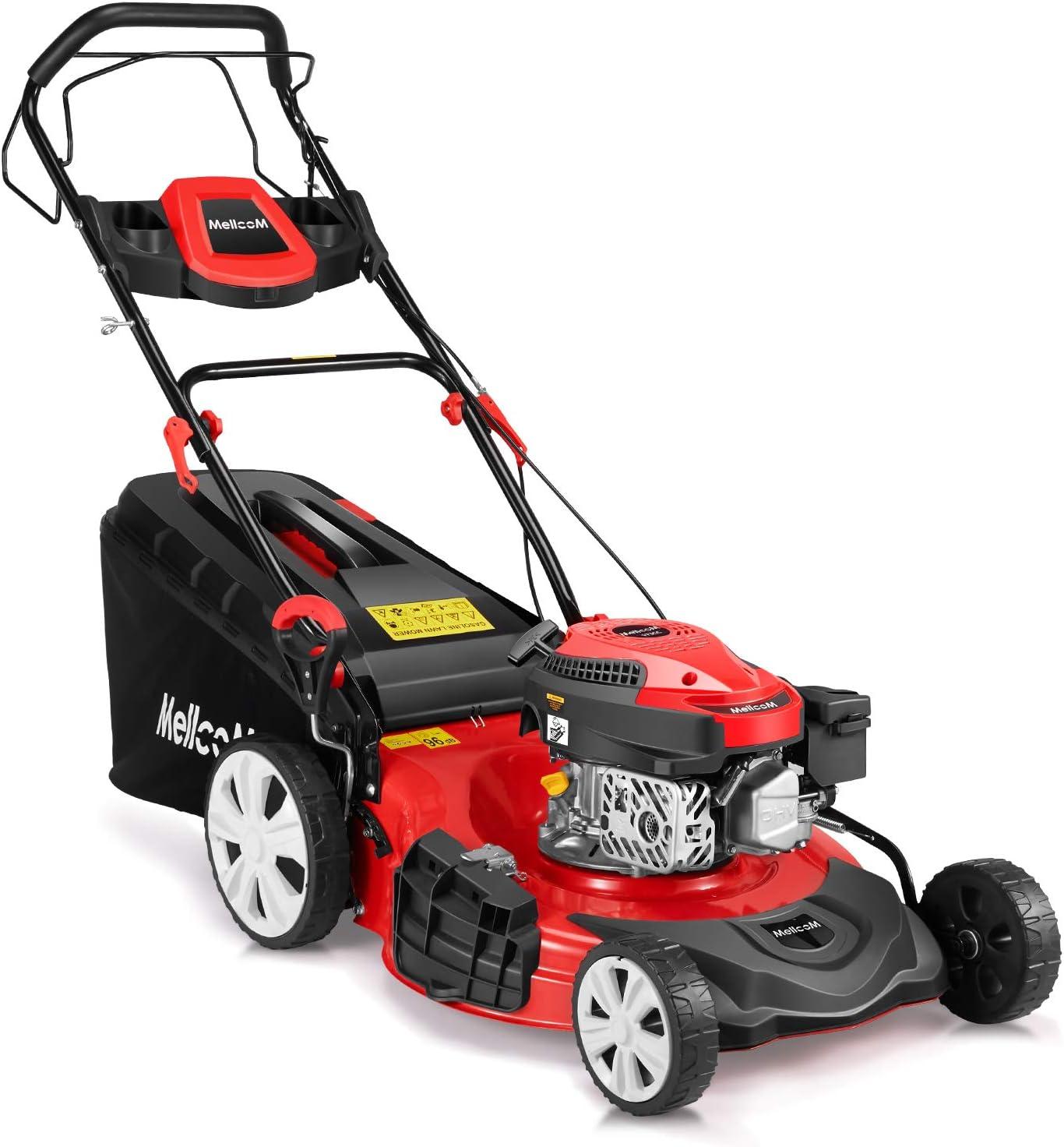 Mellcom Gas Lawn Mower 4-Cycle 173cc OHV 21-Inch Trimming Mower