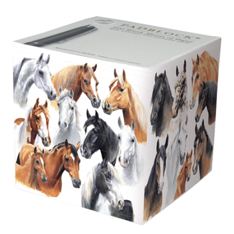 Padblock Note Cube Horses by Caroline 800 sheets