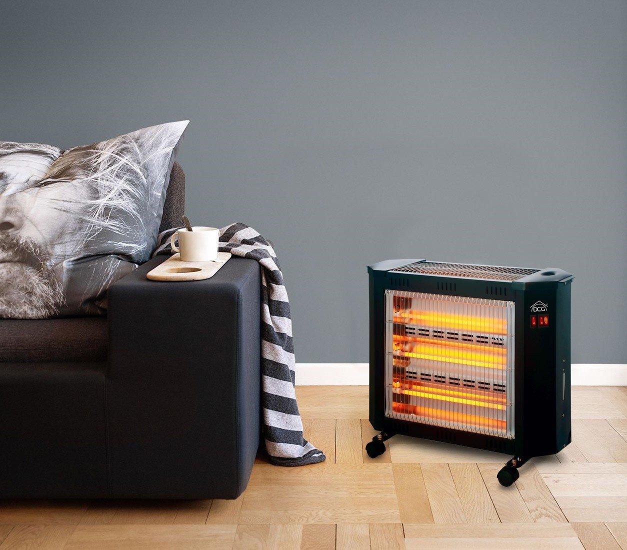 SA9624 Estufa Eléctrica DCG cuarzo 4 elementos humidificador 3 niveles temperatura. Media Wave Store®: Amazon.es: Hogar