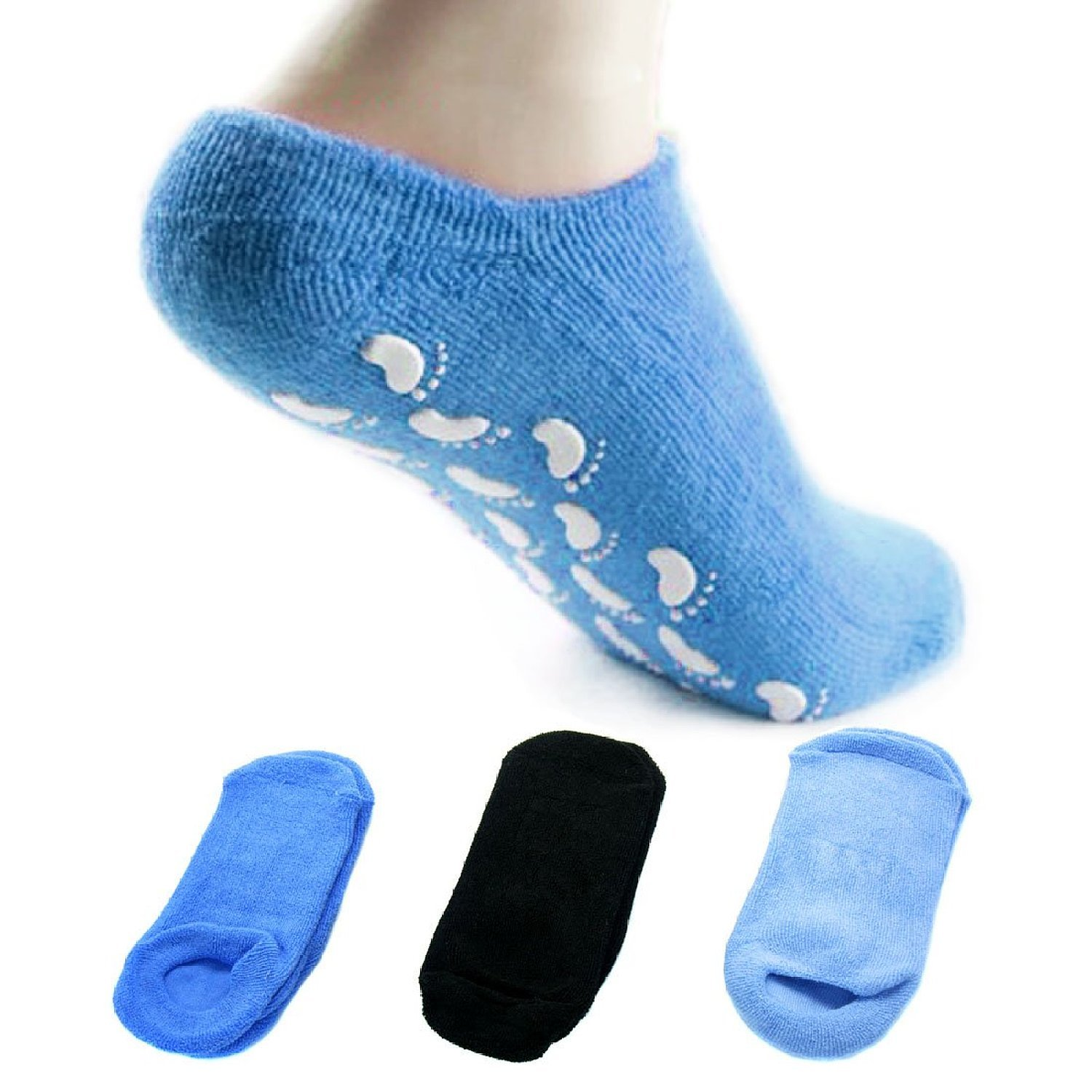 EUBEST 3 Pairs Silicone Dot Non Slip Soft Cotton Gripper Winter Yoga Socks for Women