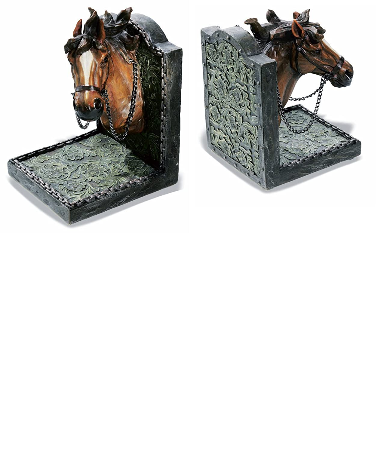 Novelty Horses Bookends Home Office School Desk Book Ends Decorative Bookshelf Display Organizers Equestrian Gift