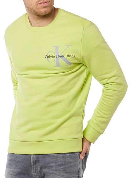 Calvin Klein Sudadera Jeans Hombre L Amarillo J30J304675 367: Amazon.es: Ropa y accesorios