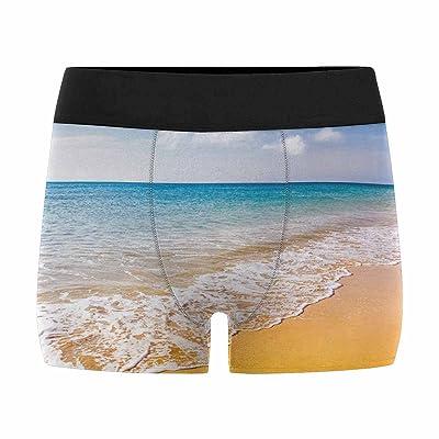 InterestPrint Custom Men's All-Over Print Boxer Briefs Beautiful Ocean Beach on Canary Islands (XS-3XL)