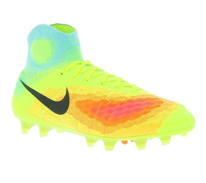 Nike Magista Obra II FG Scarpe da calcio, Uomo, Amarillo (Volt / Black-Total Orange-Pink Blast), 42.5