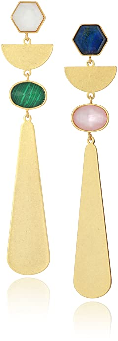 kate spade new york Womens Linear Drop Earrings, Multi
