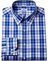 Izod Mens Classic Fit Stretch Shirt China Blue Button Down