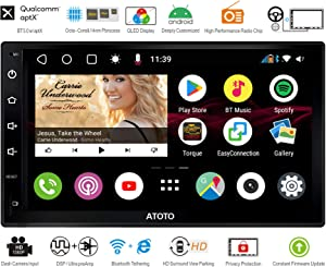 ATOTO S8 Android Car in-Dash Navigation Stereo System,S8 Premium S8G2B73M,Powerful Soc,Dual BT w/aptX codec,Phone Integration Link,Ultra Clear QLED Display,VSV Parking,Support 512GB SD & More