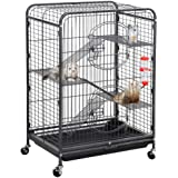 YAHEETECH 37/52-inch Metal Ferret Chinchilla Cage Indoor Outdoor Small Animals Hutch with 2 Front Doors/3 Front Doors…