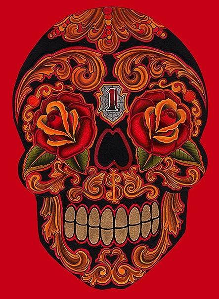 Amazoncom New School Dia Skull By Lil Chris Sugar Skull Tattoo