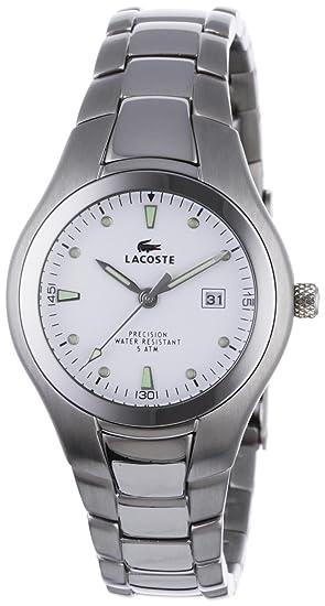 Lacoste 3510L 62 - Reloj analógico de mujer de cuarzo con correa de acero inoxidable plateada: Amazon.es: Relojes