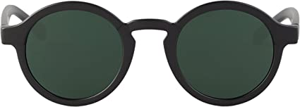 MR, Matte black dalston with classical lenses - Gafas De Sol unisex color negro, talla única