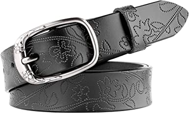 Women Leather belts for Ladies, JasGood 1.1