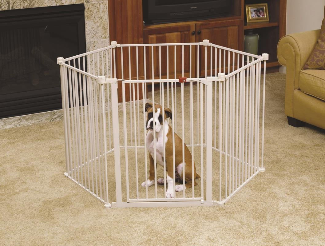 Indoor dog pen wooden pet crate nighstand dog pen end for Wooden dog pens for inside