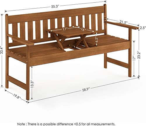 Furinno FG19341 Tioman Outdoor Hardwood Occasional Bench