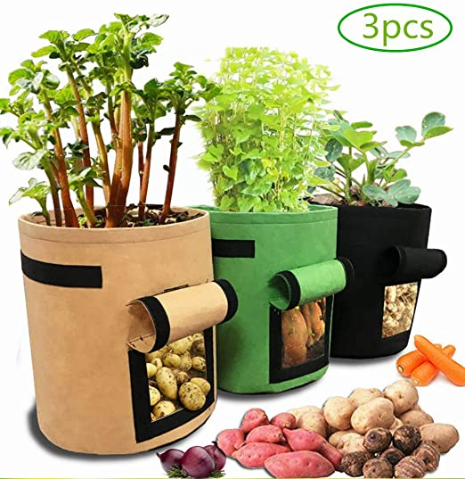 JoGoi Bolsa de cultivo de patatas, 3 unidades, bolsa para plantar ...